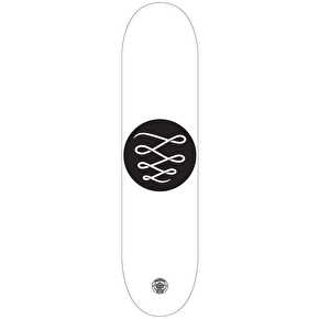 Descent Minimalist Skateboard Deck - White 8.5