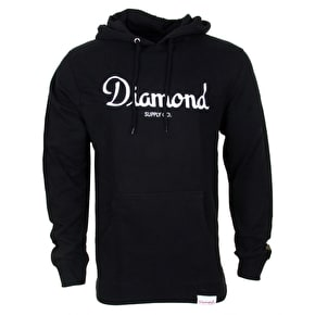 Diamond Champagne Embroidery Hoodie - Black