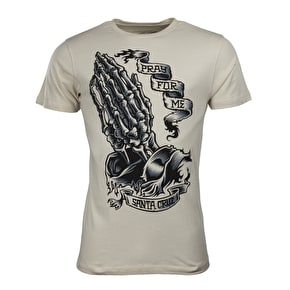 Santa Cruz Pray Skeleton T-Shirt - Vintage White