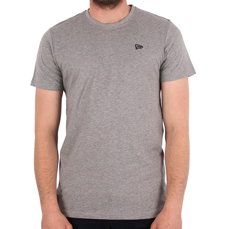 New Era Premium Classic Clubroom T-Shirt - Light Heather Grey