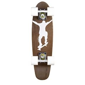 Ridge Mini Cruiser Skateboard - Number One Dark Dye/White 22