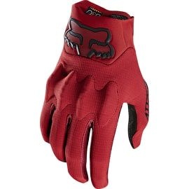 Fox Attack Protective Gloves - Dark Red