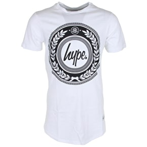 Hype Reef Dished T-Shirt - White/Black