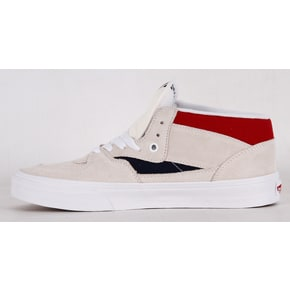 Vans Half Cab Skate Shoes - Retro Block White/Red/Dress Blues