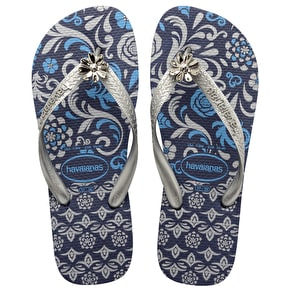 Havaianas Caprice Flip Flops- Navy/Silver UK 8 (Box Damage)