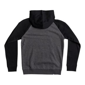 DC Rebuilt Pullover Raglan Kids Hoodie - Black/Charcoal Heather