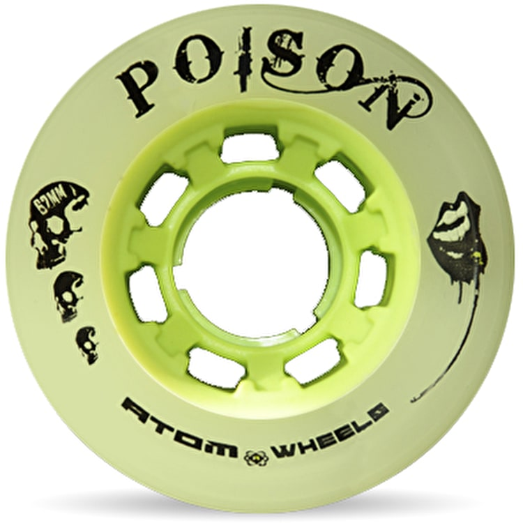 Atom Quad Derby Poison Slim 62mm Wheels 84A (4pk) - Natural Green