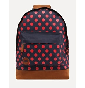Mi-Pac All Polka Backpack - Navy/Bright Red