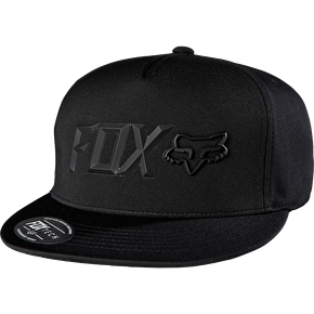 Fox Lampson Snapback Cap - Black