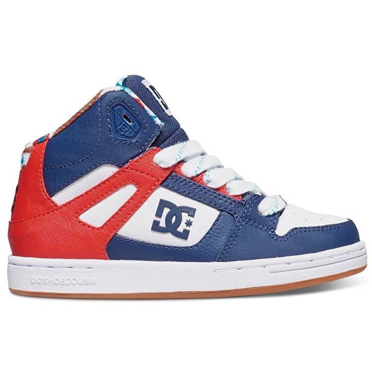 DC Rebound SE Kids Shoes - Black/Red Print