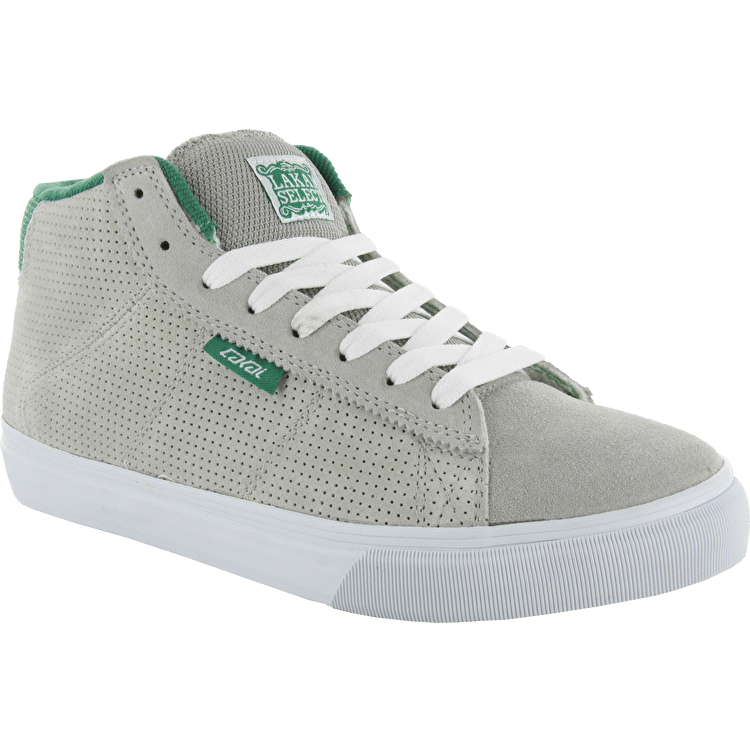 Lakai Howard Mid Kids Skate Shoes - Grey/Green