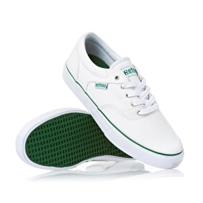 Etnies Fairfax Skate Shoes - White/Green - UK 7 (B-Stock)