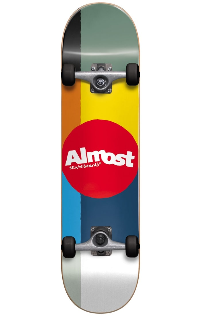 Image of Almost Color Code Complete Skateboard - Multi 7.875""