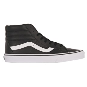 Vans Sk8-Hi Reissue Skate Shoes - (Classic Tumble) Black/True Wihite