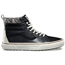Vans Sk8-Hi Skate Shoes - (MTE) Black/Marshmallow