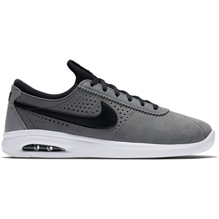 Nike SB Air Max Bruin Vapor Skate Shoes - Cool Grey/Black