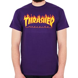 Thrasher Flame Logo T-Shirt - Purple