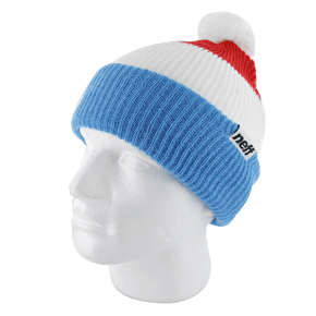 Neff Snappy Beanie - Blue / White / Red