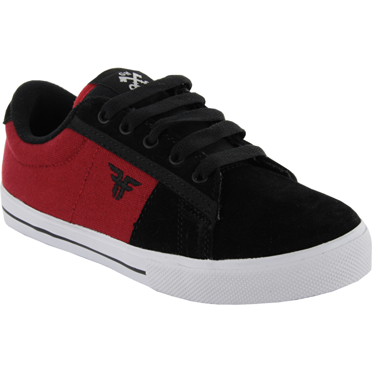 Fallen Kids Bomber Skate Shoes - Black/Crimson