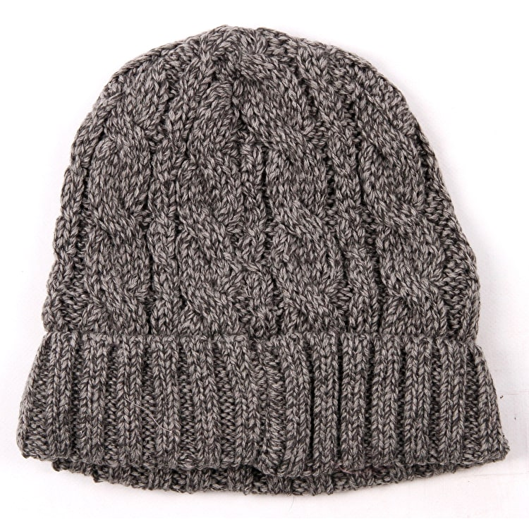 Barts Twister Turnup Beanie - Heather Grey
