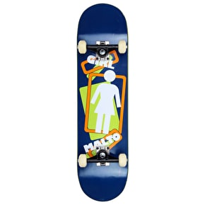 B-Stock Girl Slanted Stencil Custom Skateboard - Malto 8.125