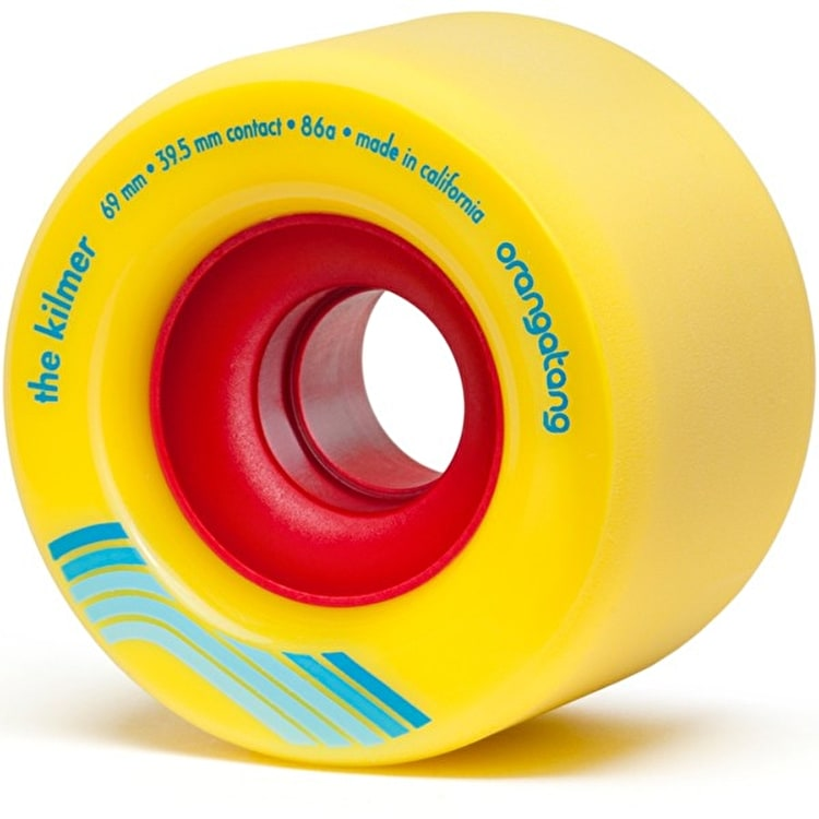 Orangatang Kilmer 69mm Longboard Wheels - Yellow (Pack of 4)