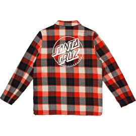 Santa Cruz Retreat Womens Jacket - Red Plaid