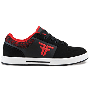 Fallen Patriot III Kids Skate Shoes - Black/Blood Red