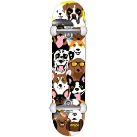 Enjoi Dog Collage First Push Complete Skateboard 7.375