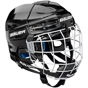 Bauer Prodigy Youth Combo Hockey Helmet - Black