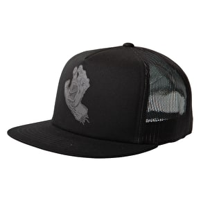 Santa Cruz Trucker Cap - Screaming Hand Black