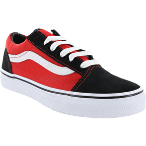 Vans Old Skool Kids Shoes - (Pop) Black/High Risk Red