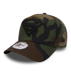 New Era Superman Camo Metal Hero Aframe Cap - Camo