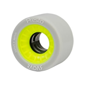 RADAR Presto 59mm Quad Derby wheels 91A (4pk) Yellow