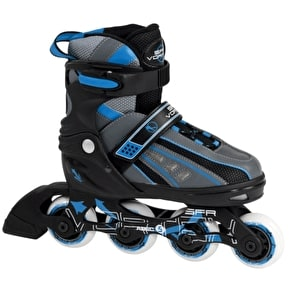 B-Stock SFR Vortex Boys Adjustable Inline Skates - Black/Blue - UK 3 - UK 6 (No box, Used)