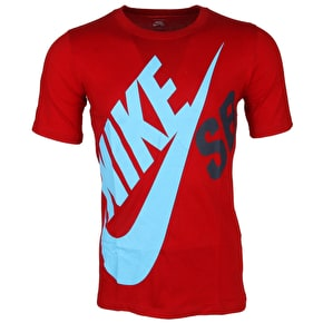Nike SB Kids T-Shirt - Big Logo - Gym Red