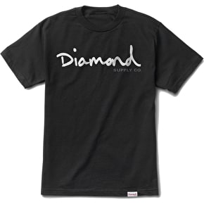 Diamond OG Script T-Shirt - Black