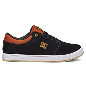 DC Crisis Kids Skate Shoes - Black/Brown/White