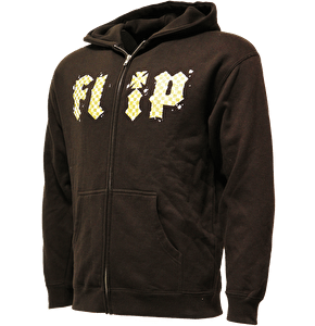 Flip Checkered Zip Hoodie - Chocolate