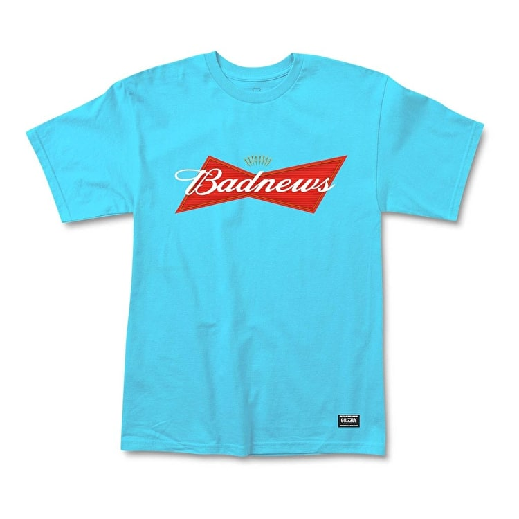 Grizzly Bud News T-Shirt - Pacific Blue