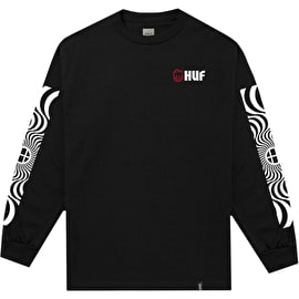 Huf X Spitfire Swirls Long Sleeve T Shirt - Black