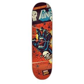 Santa Cruz x Marvel Skateboard Deck - Punisher Hand 8.38