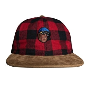 Primitive x Biggie 6 Panel Strapback - Black/Red