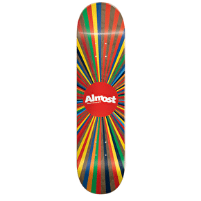 Almost Colour Wheel Skateboard Deck - Brown 8