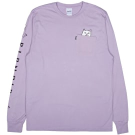 RIPNDIP Lord Nermal Long Sleeve T Shirt - Lavender