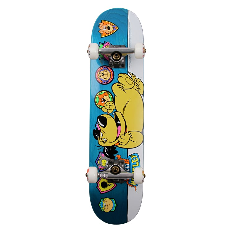 Almost Muttley Plaque Premium Kids Complete Skateboard - Teal 7""