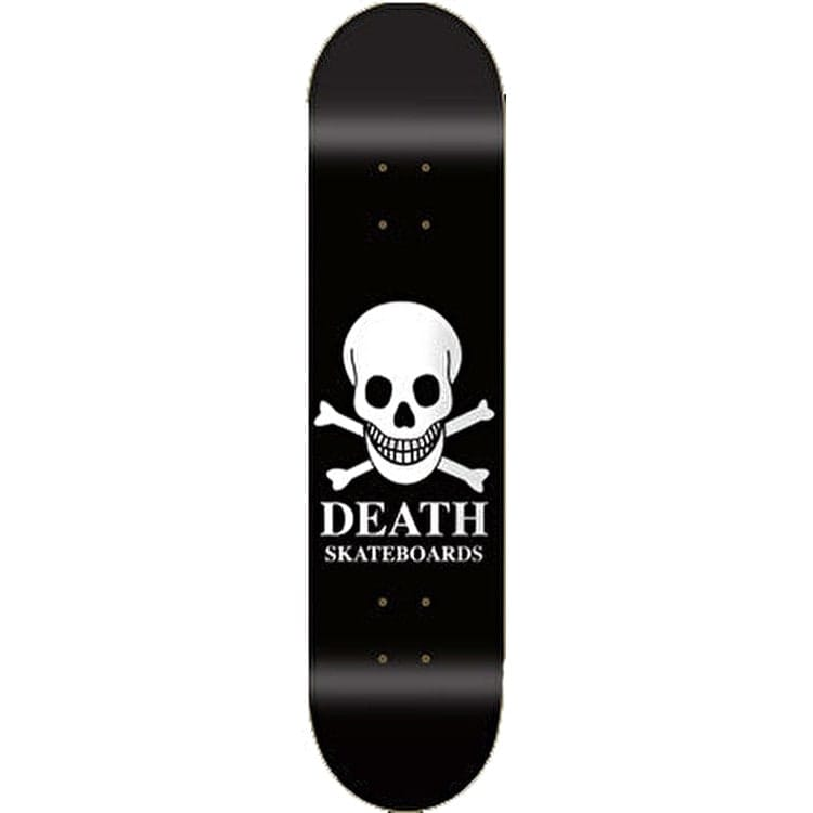 Death OG Skull Skateboard Deck - Black 8""