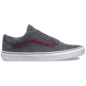 Vans Old Skool Shoes - (Reptile) Grey/Port Royale