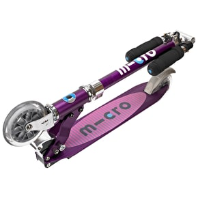 Micro Sprite Folding Scooter- Purple Stripe