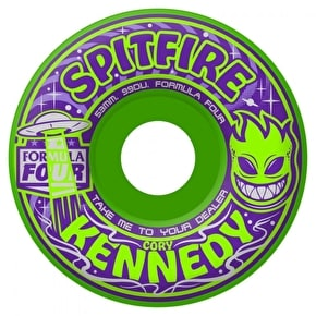 Spitfire Skateboard Wheels - Formula Four Take Me To Your Dealer Kennedy - Neon Green -  53mm